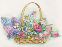 Basket of Flowers Fine Art Print