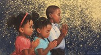 Kids Praying Fine Art Print