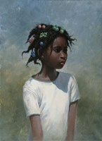Girl White Fine Art Print