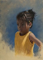 Girl Yellow Fine Art Print