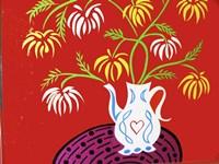 Teapot Vase - Red Fine Art Print