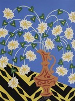 Floral Urn - Brown Fine Art Print