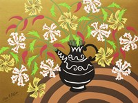 Black Teapot Vase Fine Art Print