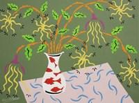 Shedding Petals - Green Fine Art Print
