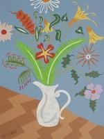 Les Fleures du Printemps - White Vase Fine Art Print