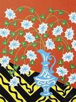 Floral Urn - Blue Fine Art Print
