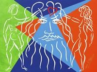 God Creates Adam and  Eve Fine Art Print