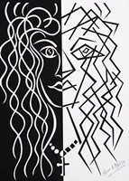 Two Faces of the Same Coin - Black/White Fine Art Print