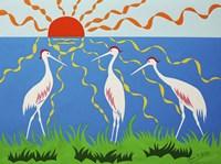 Three Storks Fine Art Print