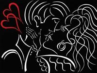 The Kiss - Red Fine Art Print
