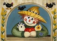 Smiling Scarecrow Fine Art Print