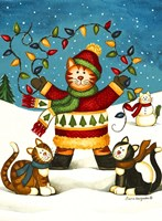 Christmas Cats Fine Art Print