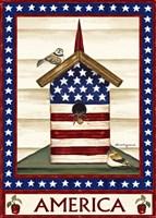 Americana Birdhouse Fine Art Print