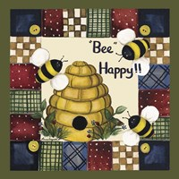 Bee Happy Fine Art Print