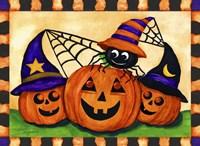 Pumpkins & Spider Fine Art Print
