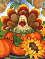 Turkey in a Pumpkin Fine Art Print