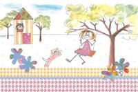 Girl On Swing Fine Art Print
