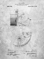 Drum and Cymbal Playing Apparatus Patent Fine Art Print