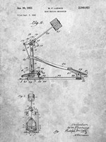 Drum Beating Mechanism Patent Fine Art Print