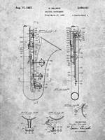 Selmer Musical Instrument Patent Fine Art Print