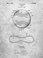 Baseball Patent Fine Art Print