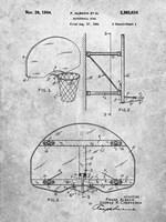 Basketball Goal Patent Fine Art Print