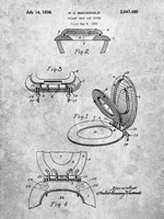 Toilet Seat and Cover Patent Fine Art Print