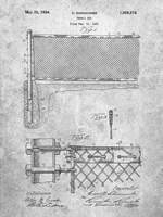 Tennis Net Patent Fine Art Print