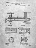 Beer Faucet Patent Fine Art Print