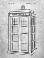 Dr. Who - Police Box Fine Art Print