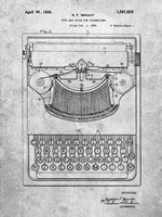 Type Bar Guide for Typewriters Patent Fine Art Print