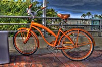 Orange Bike Fine Art Print