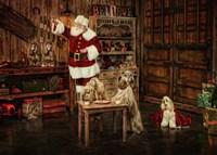 Santas Dogs Fine Art Print