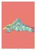 Low Poly Mountain 1 Fine Art Print