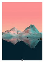 Low Poly Mountain 7 Fine Art Print