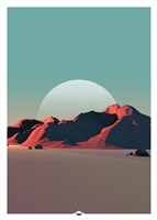 Low Poly Mountain 8 Fine Art Print