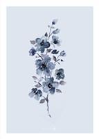 Floral Blue Fine Art Print