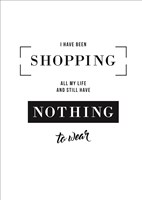 Shopping Fine Art Print