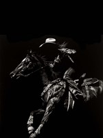 Scratchboard Rodeo I Framed Print