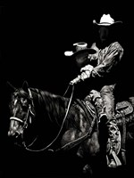 Scratchboard Rodeo II Framed Print