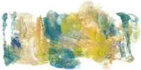 Teal & Scribbles I Fine Art Print