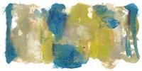 Teal & Scribbles II Framed Print