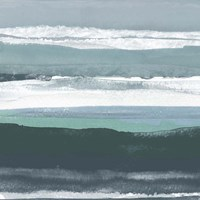 Teal Sea II Fine Art Print