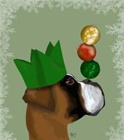 Boxer, Party Trick Baubles Fine Art Print