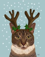 Calico Cat and Antlers Fine Art Print