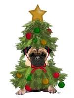 Pug, Christmas Tree Costume Fine Art Print