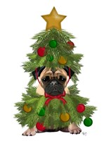 Pug, Christmas Tree Costume Fine Art Print