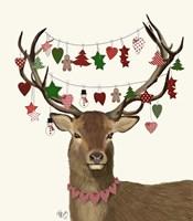 Deer, Homespun Decorations Fine Art Print