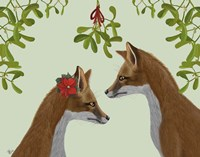Foxes and Mistletoe Fine Art Print