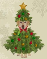 Yellow Labrador, Christmas Tree Costume Fine Art Print
